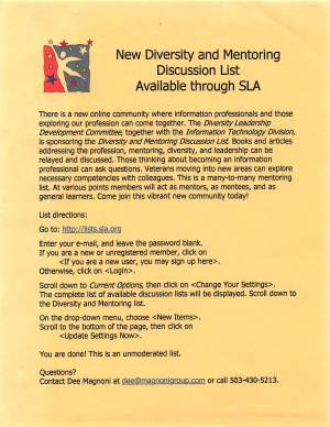 New Diversity and Mentoring Discussion List